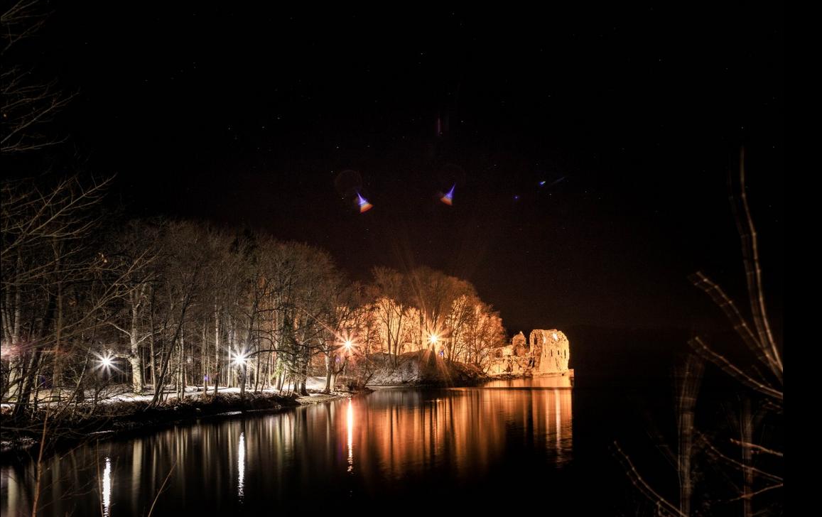 Kokneses parka izgaismošana